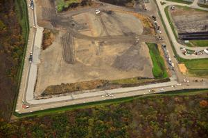 Aerial View of Construction (Westerly) - Landfill Exp. Project